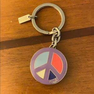Coach locket key chain